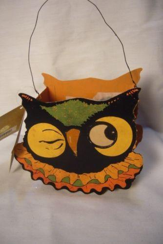 Bethany Lowe Sassy Owl Bucket for Halloween