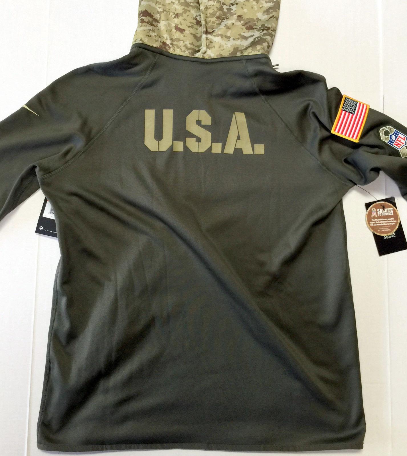 37ab63ed6de5 Women s Arizona Cardinals Salute to Service Nike Therma Dri-Fit Hoodie  Large L