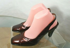 SOFFT Sling Back Patent leather Pumps Size 9  Copper Brown - $29.68