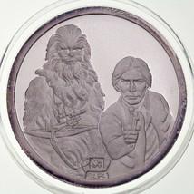 Rarities 1988 Star Wars Premier Dix Ans Han Solo Chewbacca 1 OZ .999 Pièce - $173.25