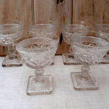 Imperial Glass Cape Cod Clear Set of 6 Champagne Stems Glasses image 5