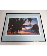 VINTAGE 1970s Sunset in Hawaii Framed 16x20 Poster Display - $74.44
