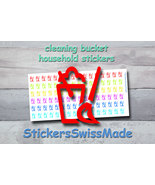 planner stickers    cleaning bucket    household    rainbow colored stic... - $3.00+