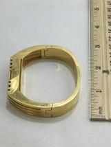 Tory Burch FitBit Gold Tone Holder Hinge Bangle Case Band Bracelet BT2426 Flex image 2