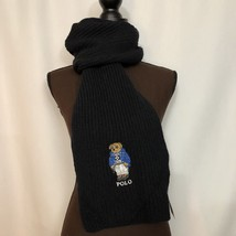 NEW POLO RALPH LAUREN Mens Polo Bear Scarf, Ski Bear, Black, $65 - £39.75 GBP