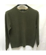 Banana Republic M Sweater Shirt Green Thermal Pullover Long Sleeves Mens... - $14.69