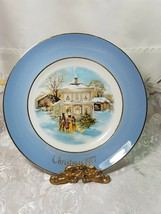 Avon Christmas Plate Series 1977 Carollers In The Snow Enoch Wedgwood England image 1