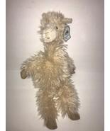 "Jellycat Luis Llama Plush New Stuffed ANimal Cream Brown Furry 18""  - $33.80"