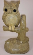 "Owl on Tree Branch Figurine 8 1/2"" - $39.59"
