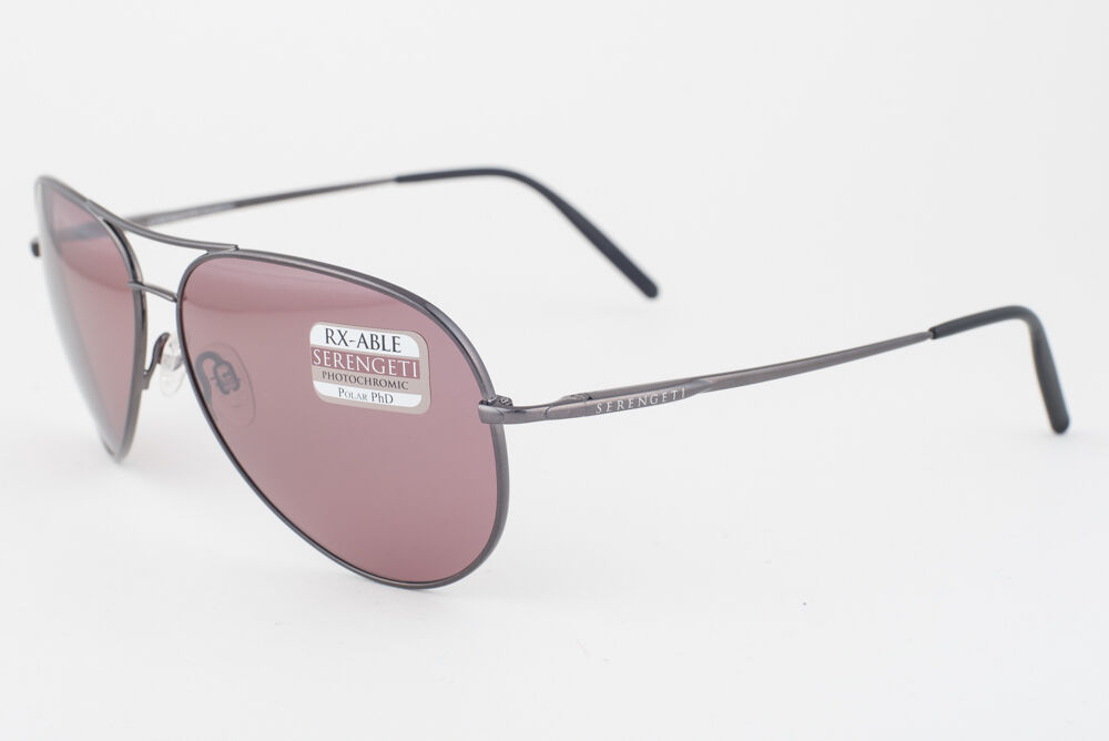 Primary image for Serengeti Medium Aviator Shiny Gunmetal / Polarized Sedona Sunglasses 8088