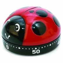Kikkerland Meccanico Timer da Cucina Coccinella Rosso 60 Minuti KT21-A - $6.56
