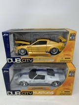 JADA TOYS DUB CITY BIGTIME MUSCLE 1:24 Diecast 2010 FORD MUSTANG GT & 20... - $62.88