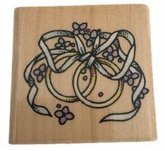 Rubber Stampede Wedding Rings Intertwined Wedding Invitation Card Making... - $2.99
