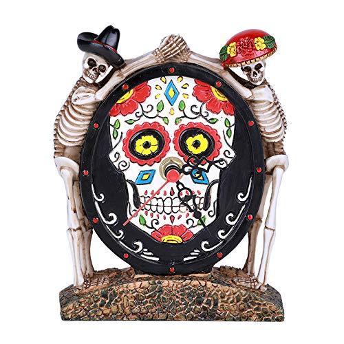 Dead of The Day Skeleton Statue Decorative Desktop Clock - $22.76