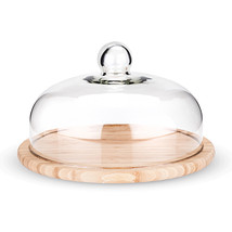 serving board cheese, Round Bamboo Cupola Dome rustic elegant cheese board - $56.99