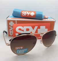 New SPY OPTIC Sunglasses WHISTLER Rose Gold Aviator Frame w/ Happy Bronze Fade