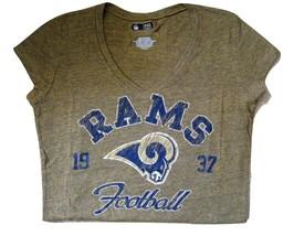 Nfl Womens Jr. V-Neck Tee Rams Of Fi Cially Lis Nwt Xl - $15.99