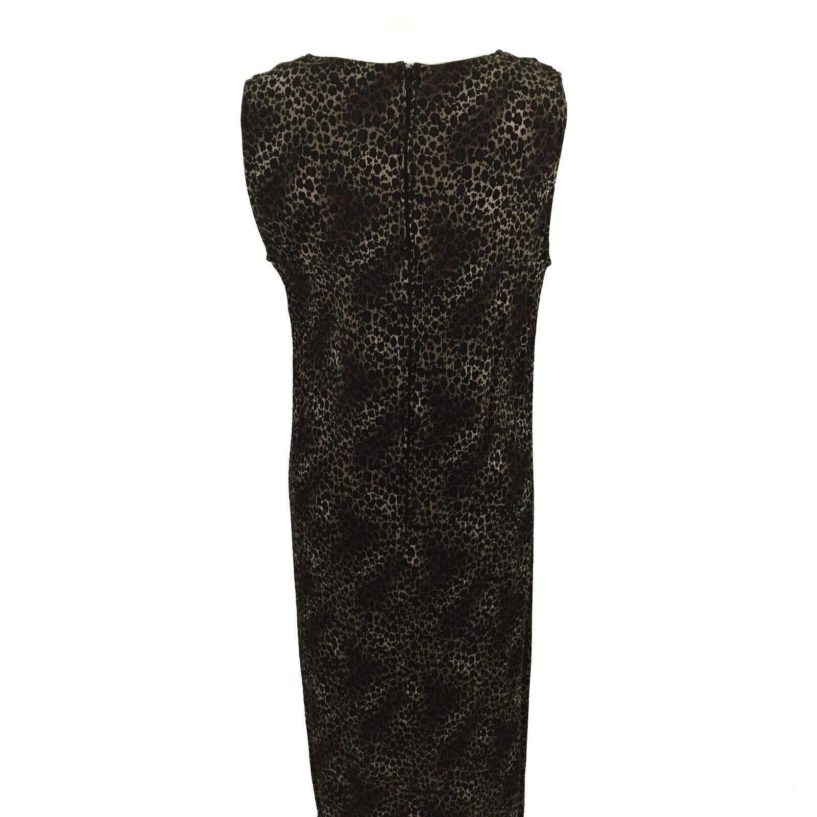 KSL Karin Stevens Sleeveless Maxi Dress and Jacket Size 14W Brown Animal Print image 9