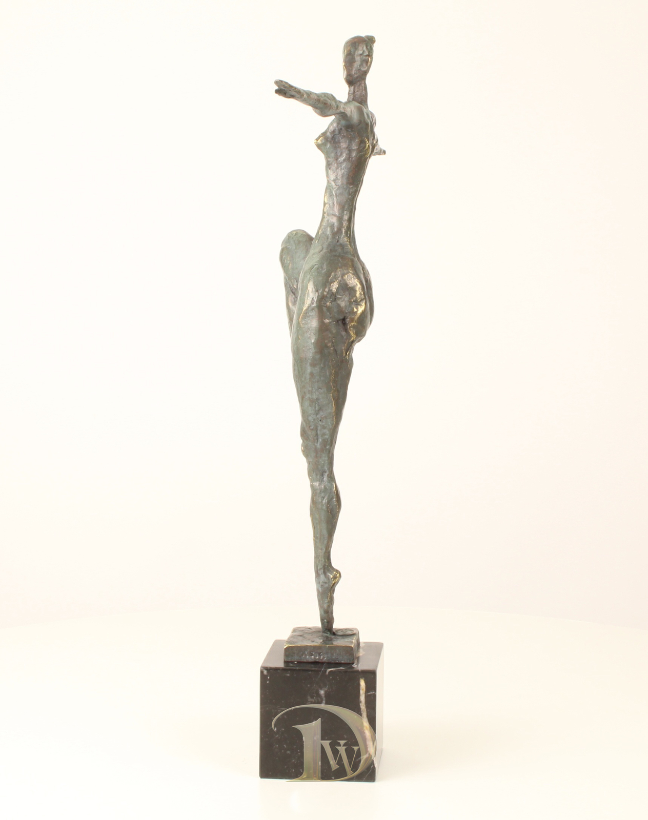 Antique Home Decor Bronze Sculpture shows female nude modern,signed*FreeShipping