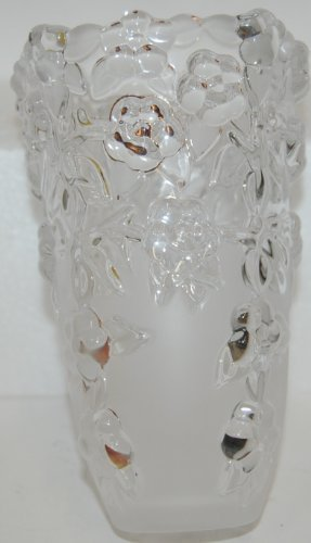Walther Glas Carmen Satiniert Original Vase 12475-7 Glass Frosted Bottom