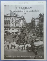 Picadilly - The busiest place in old London town             1920 Magazi... - $7.67