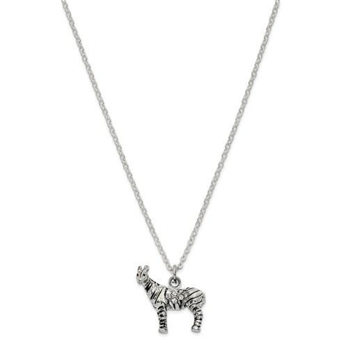 Bejeweled Crystal Zebra Trinket Box
