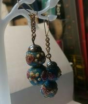 """Vintage Jewelry: 1 """"  Fun Pierced Earrings 170717 - $7.91"""