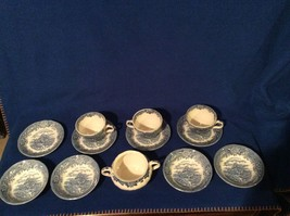 Salem China Olde Staffordshire English Village And Colonial Village  Dishes - $28.95