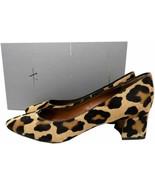 $395 Aquatalia Philo Waterproof Haircalf Pumps Block Heels Leopard Shoes... - $119.00