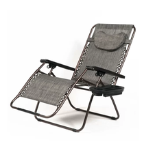 Patio Outdoor Folding Chair Zero Gravity Extra Wide Lounge Recliner Over... - $135.93