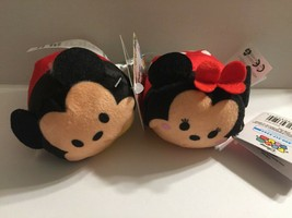 Official Disney Mickey Mouse & Minnie Mouse Tsum Tsum Plushies - $6.95