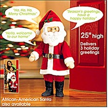 "Santa Claus Talking Greeter, 25"" High, Motion Activated - $148.49"
