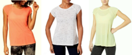Calvin Klein Performance Cap-Sleeve Strappy-Back T-Shirt, MSRP $39 - $18.04