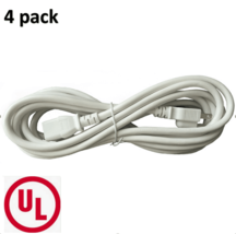 BYBON (4 PACK) 10ft 18AWG SJT Universal Power Cord for computer printer White UL - $22.95