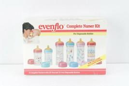 NOS Vintage 90s Evenflo Complete Nurser Kit Baby Bottles Nipples Bottles Covers - $296.95