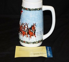Vintage Budweiser Beer Stein Tankard Clydesdales 8-Horse Hitch Xmas 2009... - $19.79