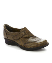 Olive Scrunch Whistle Carol Leather Slip-On Shoe sz 7w 7 wide new  - $43.70