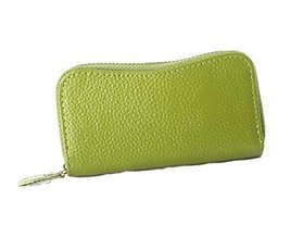 Multifunctional Key Bag Printing High Capacity Bending Zipper Key Case, Green