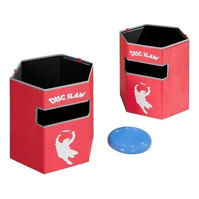 Disc Slam Game Set Folded Targets Weighted Bottom Score Clips + Waterproof Bag