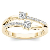 IGI Certified 14K Yellow Gold 0.33 Ct TDW Princess Diamond Engagement Ring - $449.99