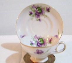 Occupied Japan Violet Demitasse Cup & Saucer - $15.00