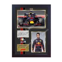 Daniel Ricciardo Formula 1 photo poster signed autograph GP FRAMED (MDF)... - $19.27