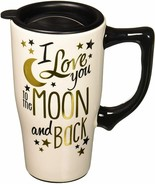 Love You To The Moon and Back White Ceramic Travel Mug - £12.95 GBP