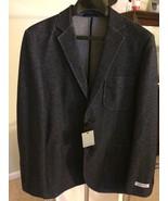 James Campbell MEN'S Blue 2 button Knit Jacket sports COAT Size Medium - €85,38 EUR