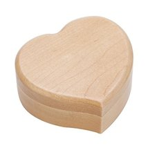 Heart Shape Vintage Wood Mechanism Musical Box Gift for Christmas or Birthday - £28.53 GBP