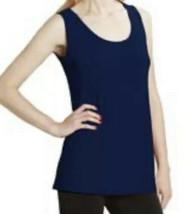 Nwt Clara Sun Woo Sunwoo  Navy Blue Scoop Neck Midlength Tank Top Shirt M - $39.59