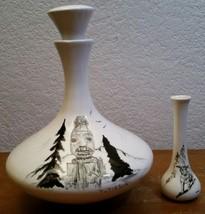 Vintage Bering Sea Originals Large Decanter & Vase Lot Tutiksuk Handmade... - $58.04