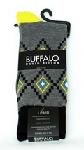 Buffalo David Bitton Black Gray Yellow Colorful Socks - $18 Retail - Bra... - $11.69