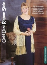 Gold Dust Ribbon Stole HoWB Knitting Pattern Leaflet - $3.57