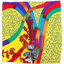 100% Silk Men's Pocket Square Handkerchief Fashion Rainbow Yellow Design... - $17.95